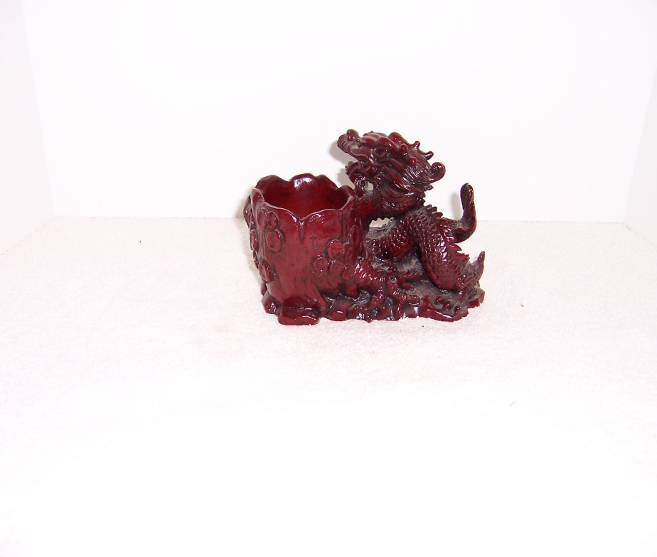 Red dragon votive or pencil holder red dragon votive or pencil holder