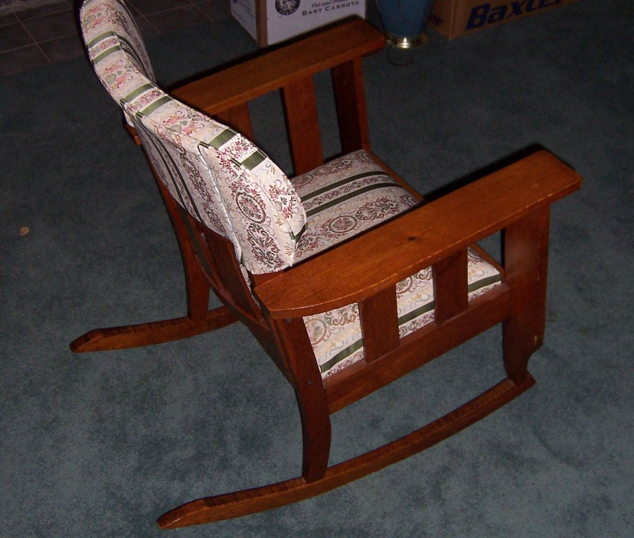 Triple A Resale Vintage Upholstered Rocking Chair